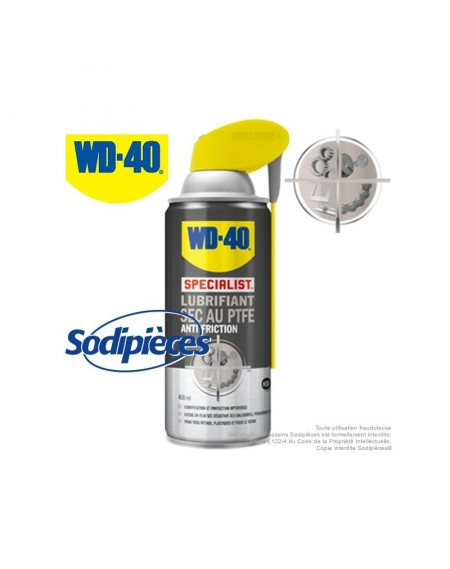 WD 40 Specialist Lubrifiant sec au PTFE anti-friction. 400 ml