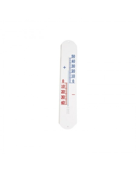 Thermomètre plastique blanc. Long. 50 cm. la.9,2 cm