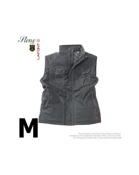 Gilet gris charbon. Stone by Lafont. Taille M