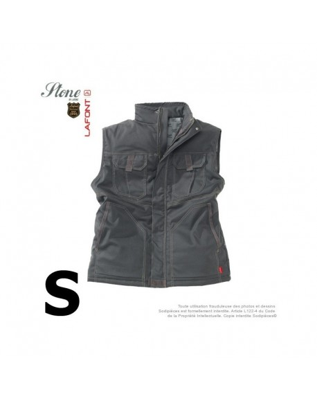Gilet gris charbon. Stone by Lafont. Taille S