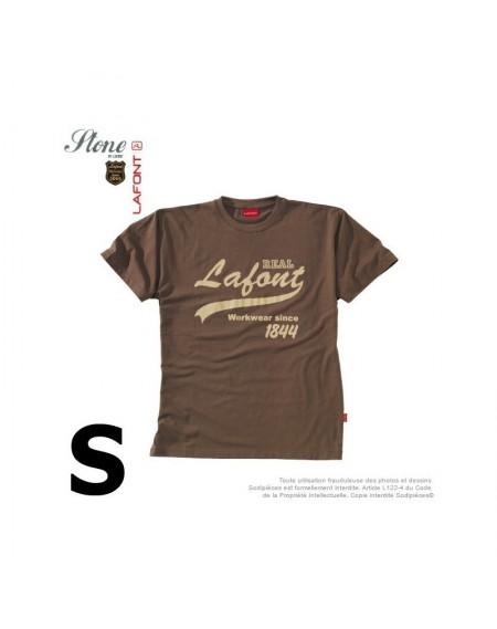 Tshirt marron havane. Stone by Lafont. Taille S