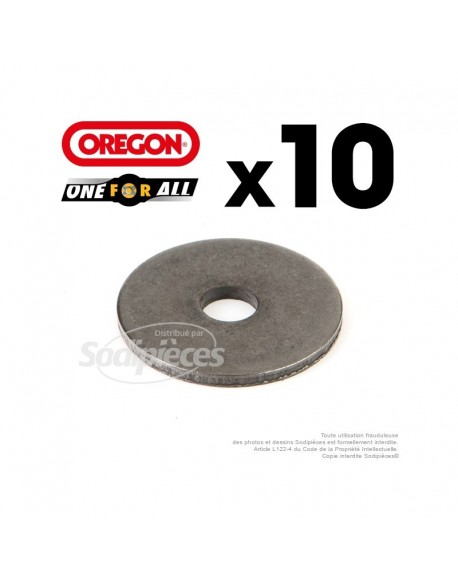 Rondelles adaptation lame Orégon. 10ex One-For-All. Al 15,7 mm