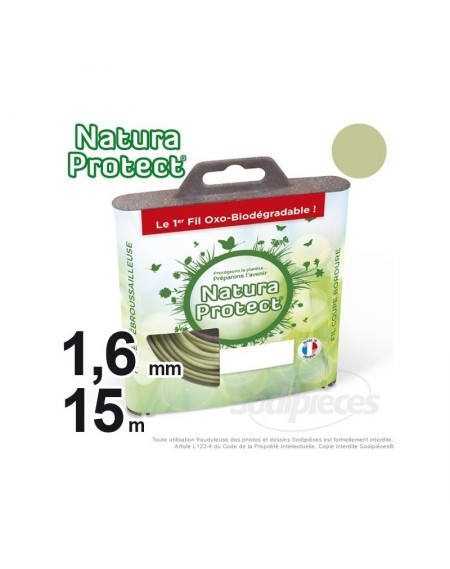 Fil Natura Protect Oxo-biodégradable, coque rond 1,6 mm x 15 m