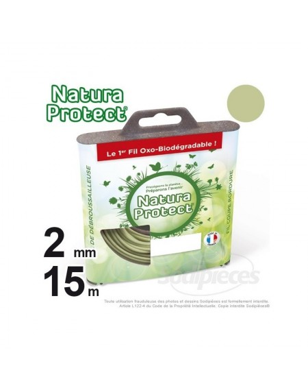 Fil Natura Protect Oxo-biodégradable, coque rond 2 mm x 15 m