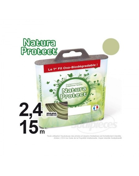 Fil Natura Protect Oxo-biodégradable, coque rond 2,4 mm x 15 m
