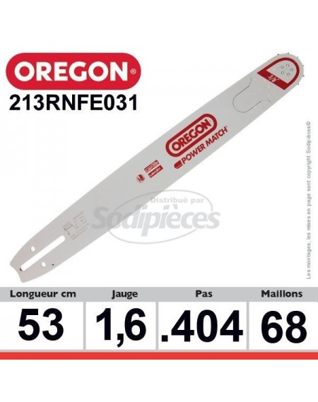 Guide 213RNFE031 OREGON Power Match E031. 53 cm