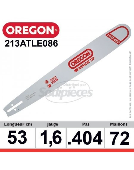 Guide 213ATLE086 OREGON Hard noise E086. 53 cm