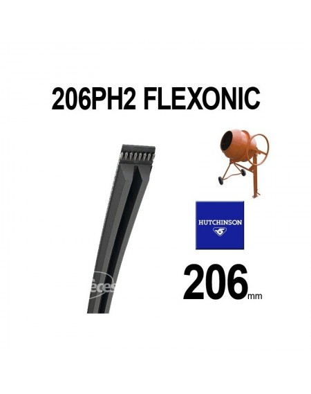 Poly-V Elastique FLEXONIC 206PH2 Hutchinson