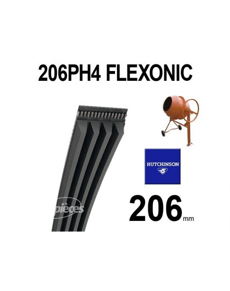 Poly-V Elastique FLEXONIC 206PH4 Hutchinson