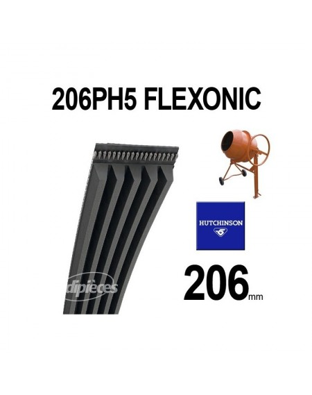 Poly-V Elastique FLEXONIC 206PH5. Hutchinson