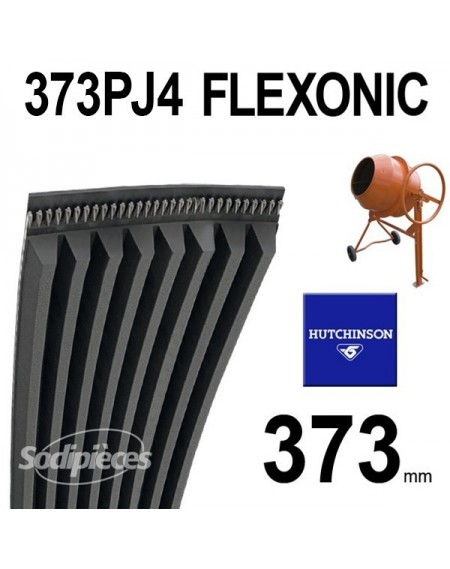 Poly-V Elastique FLEXONIC 373PJ4 Hutchinson